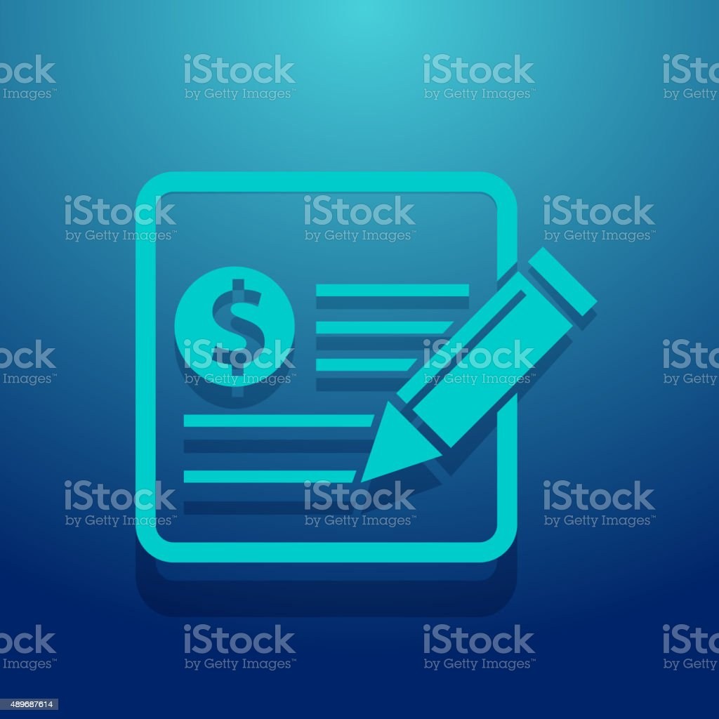 Financial Notes Icon vector art illustration