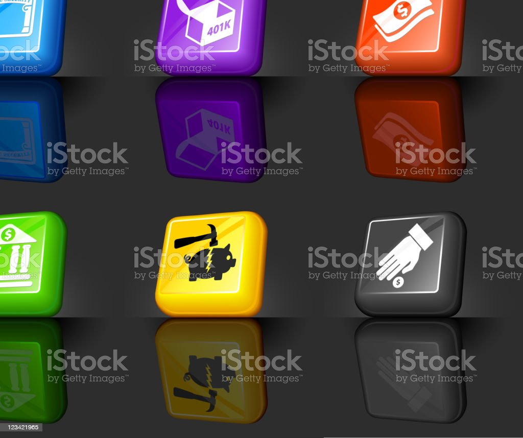 financial options internet royalty free vector icon set royalty-free stock vector art