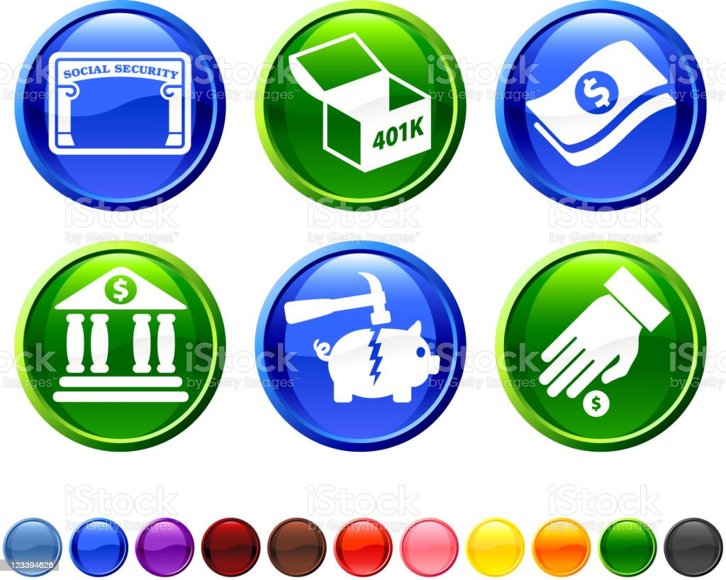 financial options royalty free vector icon set royalty-free stock vector art