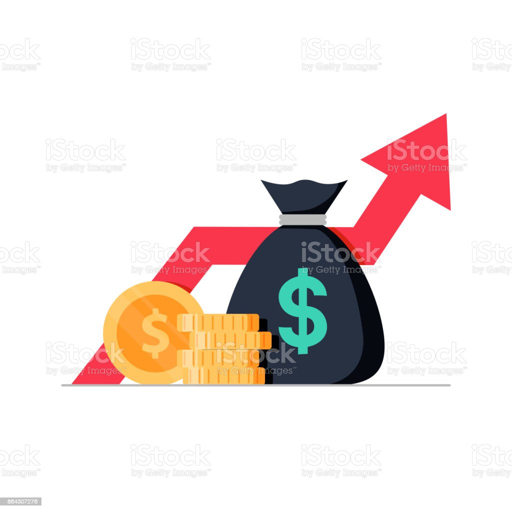 Financial performance, statistic report, boost business productivity, mutual fund, return on investment Financial performance, statistic report, boost business productivity, mutual fund, return on investment, finance consolidation, budget planning, income growth concept, vector flat icon Balance stock vector