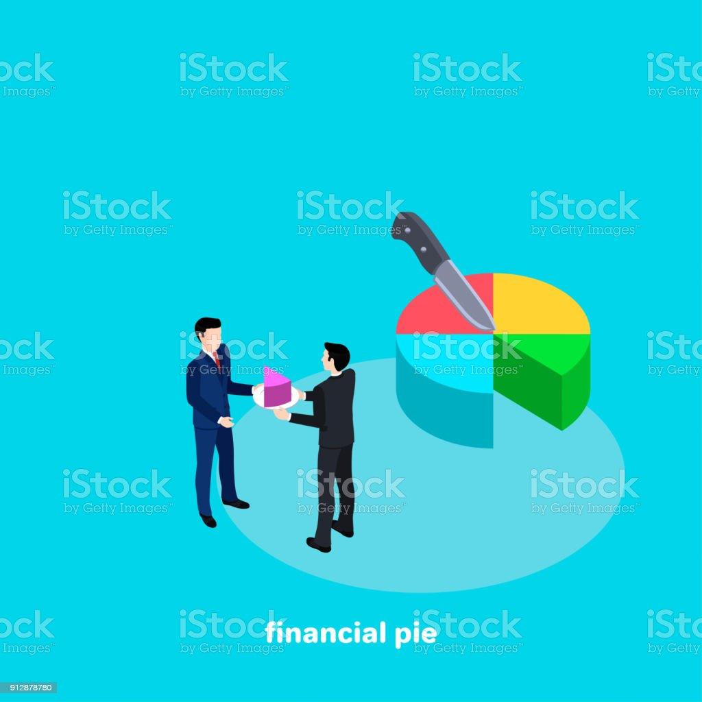 financial pie vector art illustration