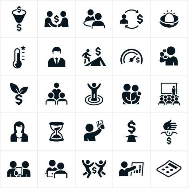 ilustrações, clipart, desenhos animados e ícones de ícones de planejamento financeiro - aposentadoria