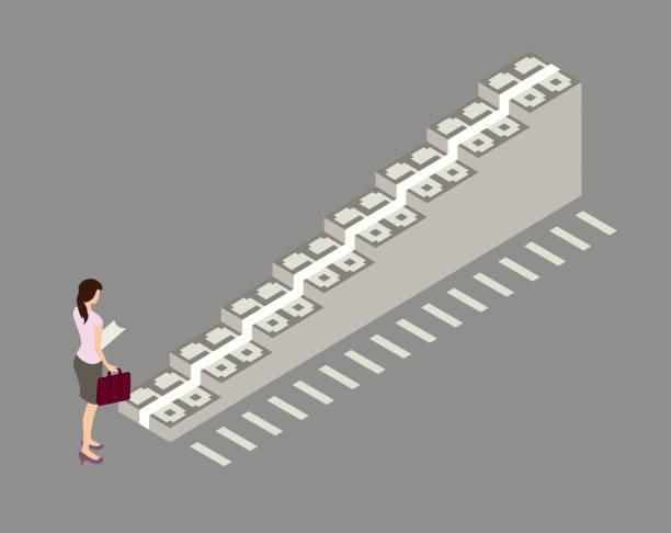 Financial planning illustration vector art illustration