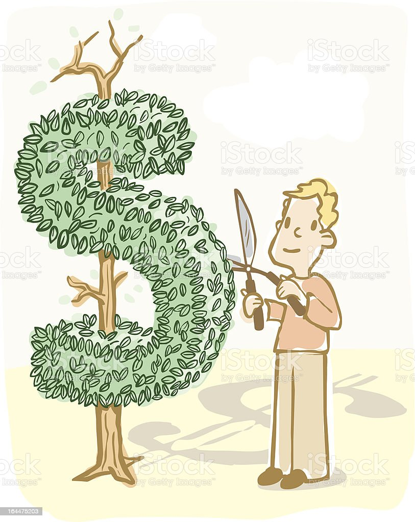Financial Planning Metaphor royalty-free stock vector art
