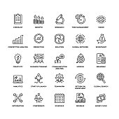Financial Planning Modern Outline Icon Set
