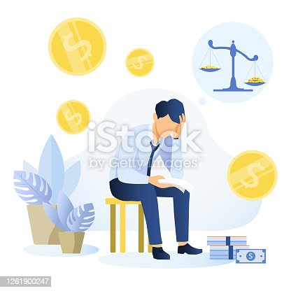 istock Financial problems and bankruptcy concept 1261900247