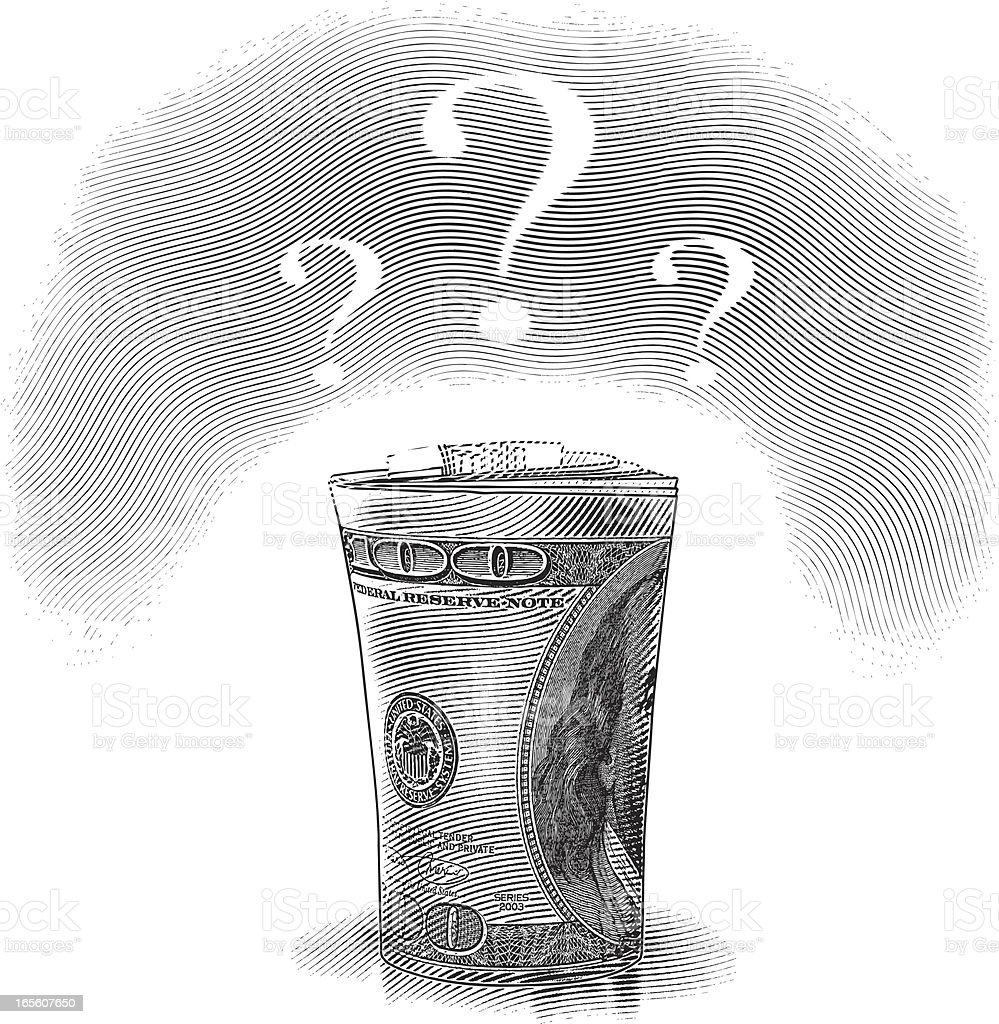 Financial Questions royalty-free stock vector art