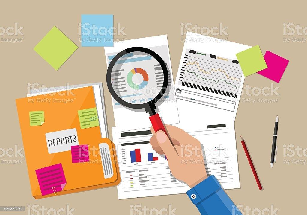financial report concept. Business background. - ilustração de arte em vetor