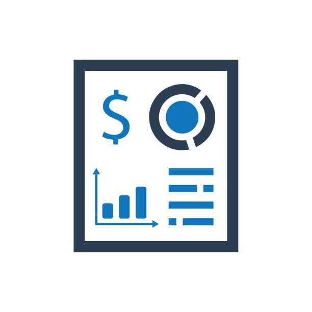 Financial Report Icon vector art illustration