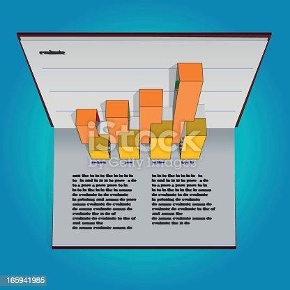 popup financial report. illustrator eps 10