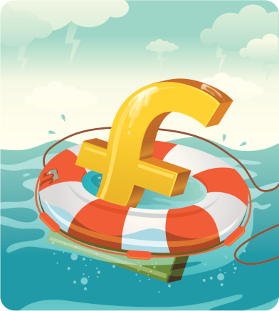 Financial Rescue - Pound sign