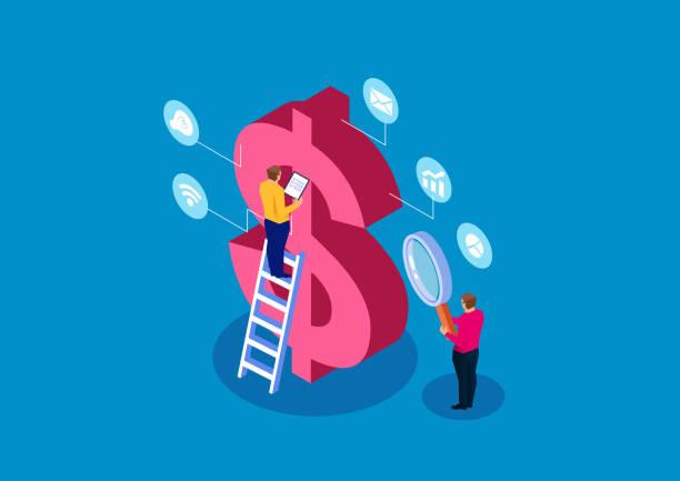ilustraciones, imágenes clip art, dibujos animados e iconos de stock de la investigación y el aprendizaje financieros - planificación financiera