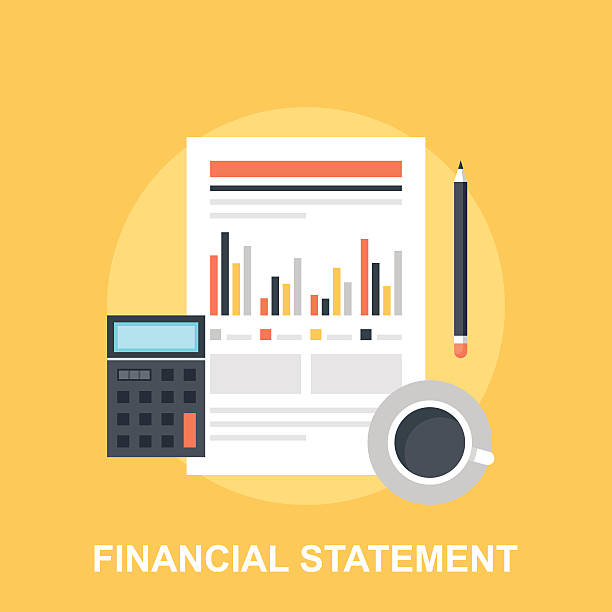 Financial Statement vector art illustration