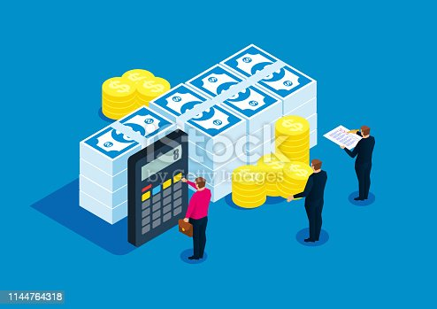 Financial statistics, accountant, bill calculation