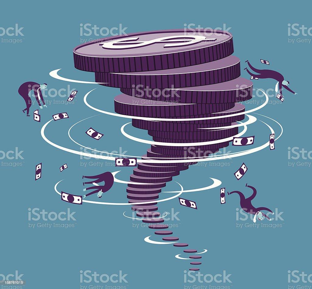 Financial storm vector art illustration