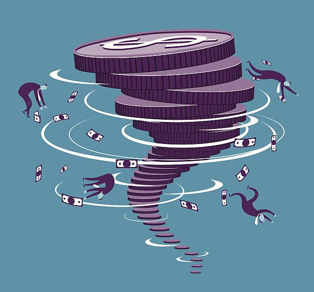 финансовые storm - dollar bill stock illustrations