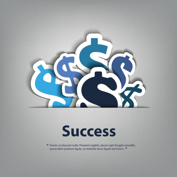 financial success - dollar signs design concept - banknot stock illustrations