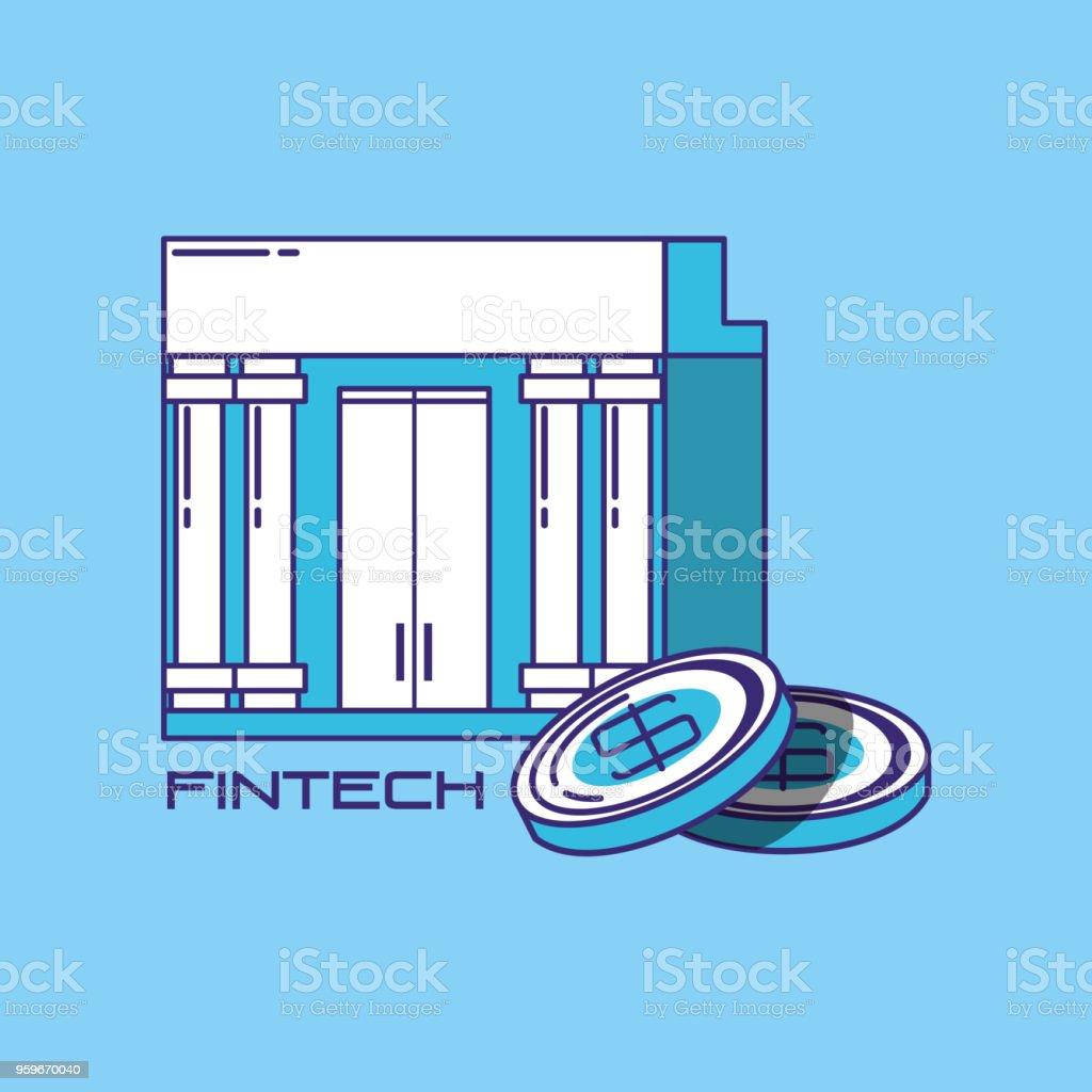 Diseño de tecnología financiera - arte vectorial de Abstracto libre de derechos