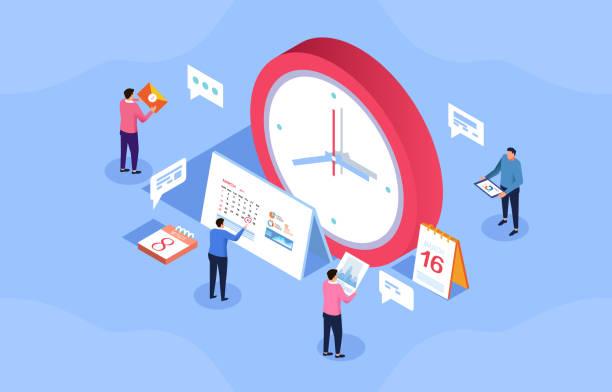Finanzzeitmanagement – Vektorgrafik