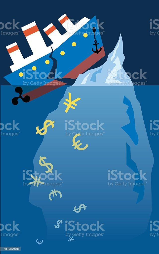 Financial Titanic vector art illustration