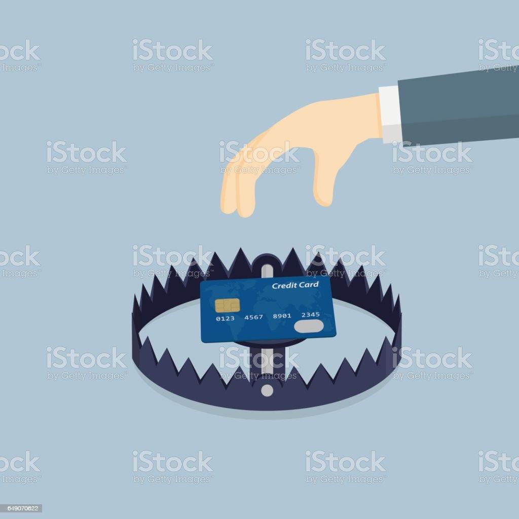 Financial Trap vector art illustration