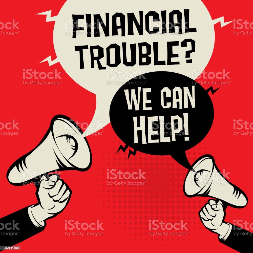Finanzielle Schwierigkeiten? Wir können helfen! – Vektorgrafik