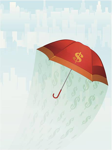 Financial Umbrella vector art illustration