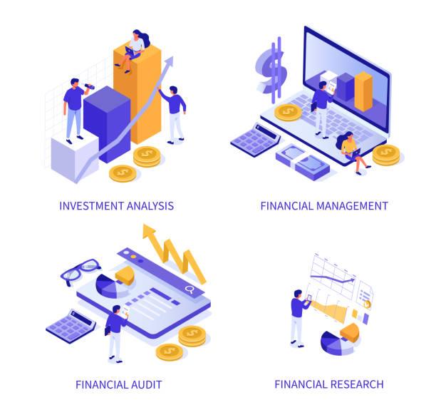 ilustrações, clipart, desenhos animados e ícones de financeira - economia