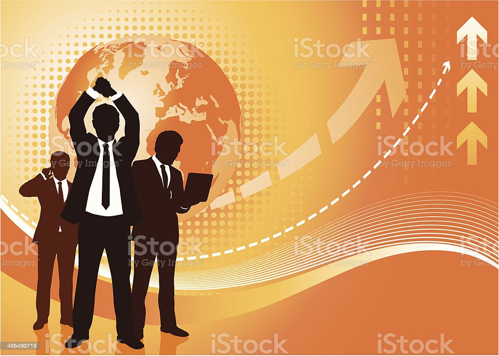 financial victory royalty-free stock vector art