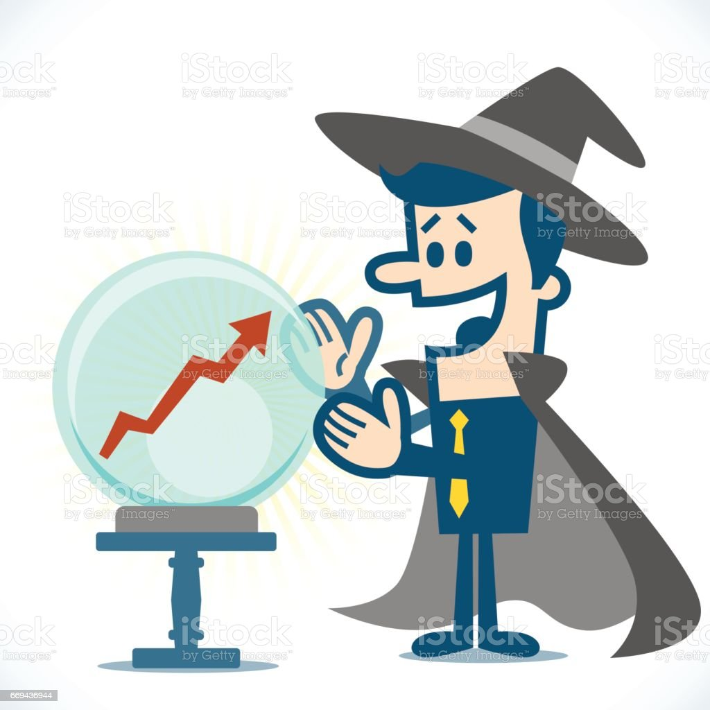 Financial wizard vector art illustration