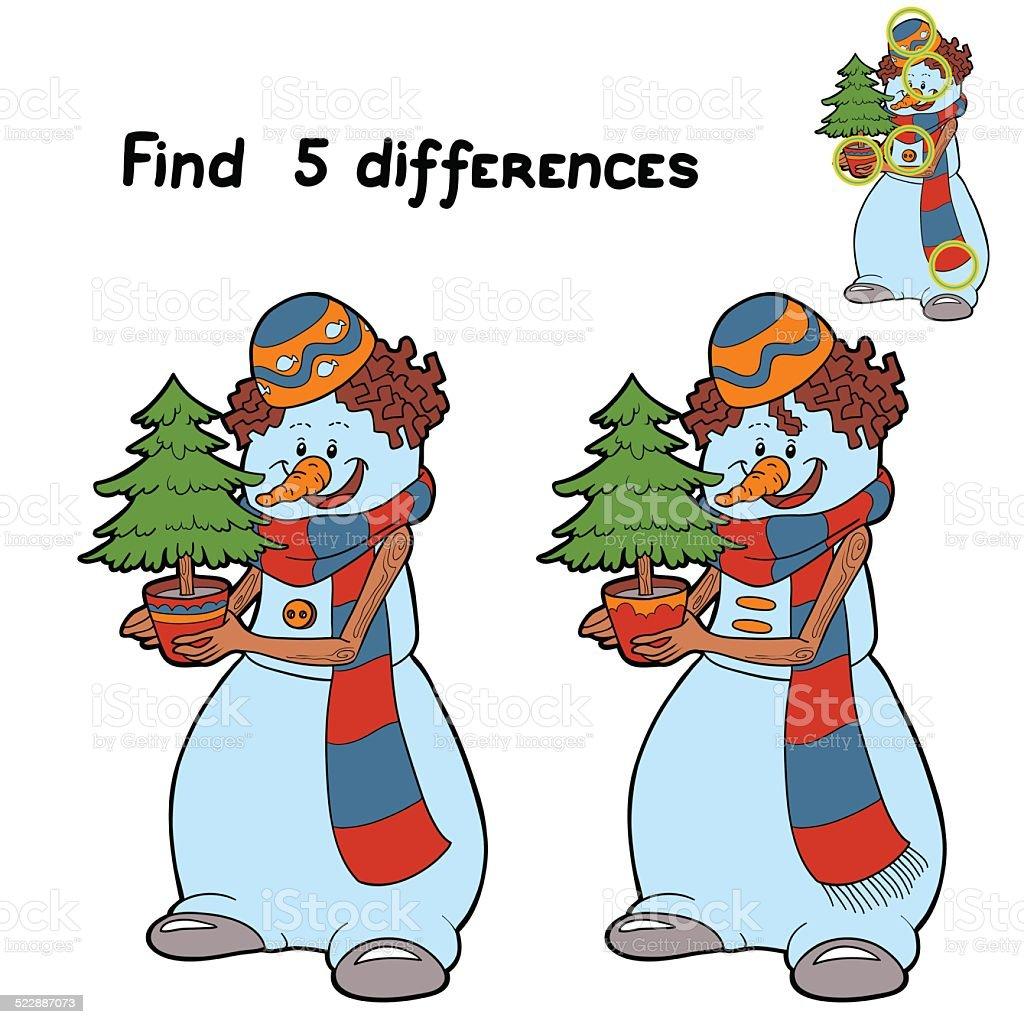 Ilustración de Encuentre 5 Diferencias y más banco de imágenes de ...