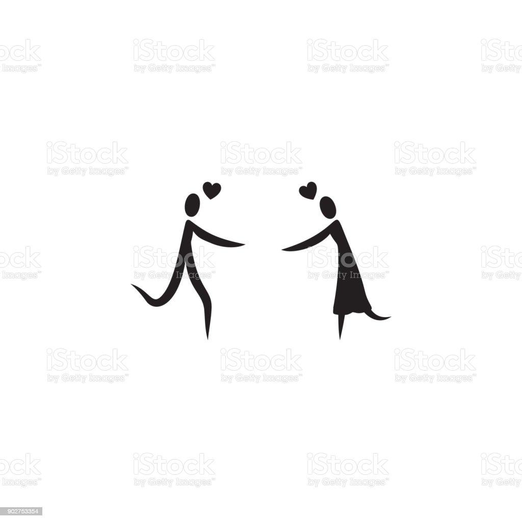 Einem Geliebten Menschen Ein Symbol Zu Finden. Valentinstag Elemente.  Premium Qualität