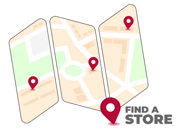 Find a Store vector art illustration