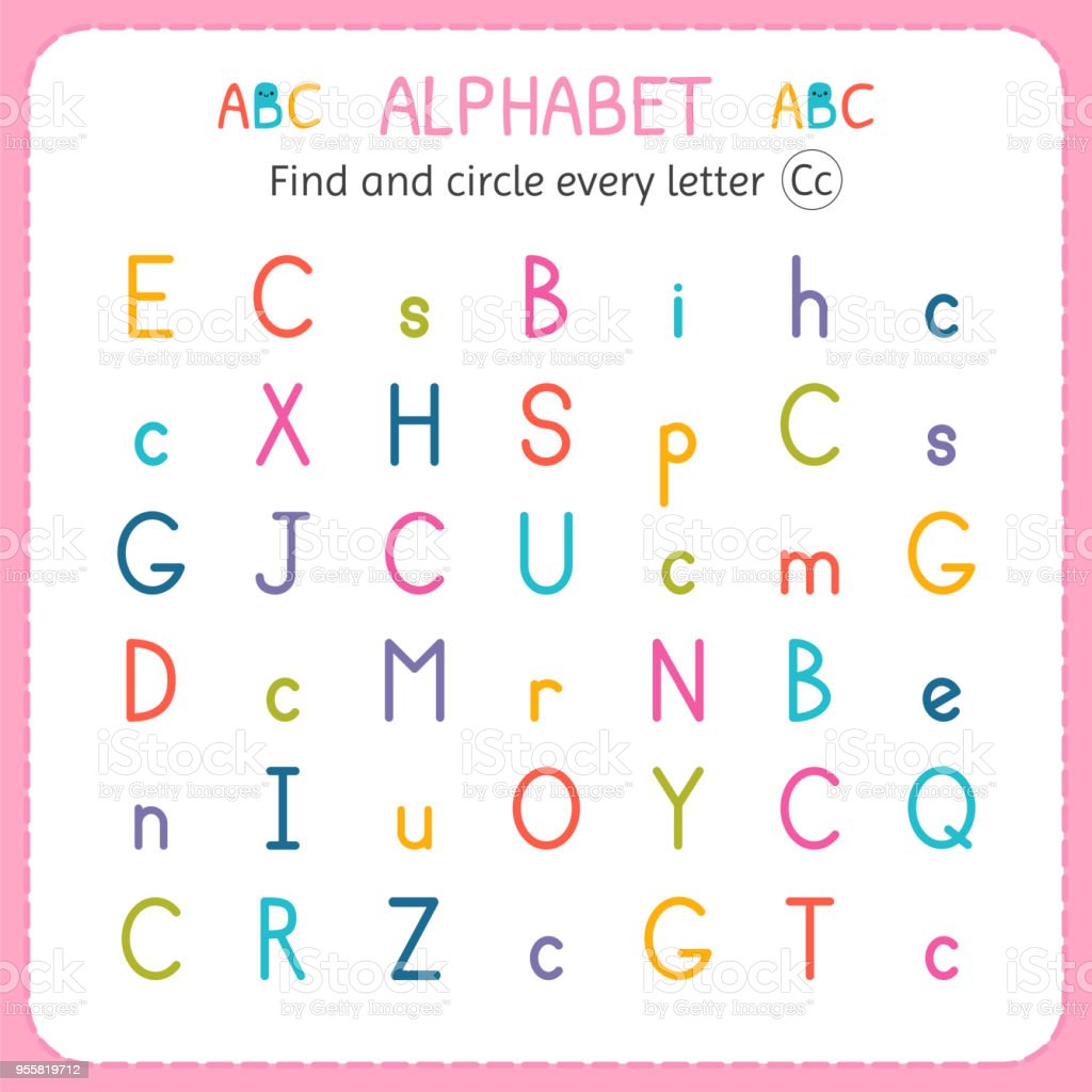 Find and circle every letter c worksheet for kindergarten and find and circle every letter c worksheet for kindergarten and preschool exercises for children ibookread ePUb