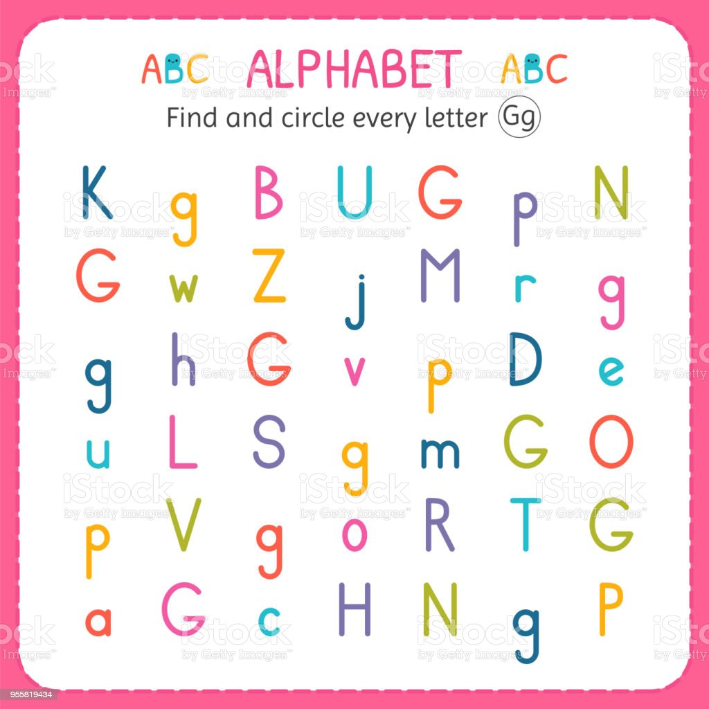 Find and circle every letter g worksheet for kindergarten and find and circle every letter g worksheet for kindergarten and preschool exercises for children ibookread PDF