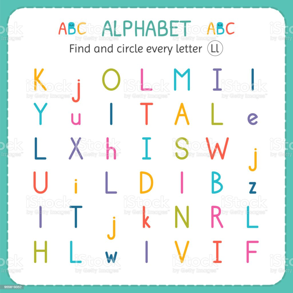 Find And Circle Every Letter L Worksheet For Kindergarten ...