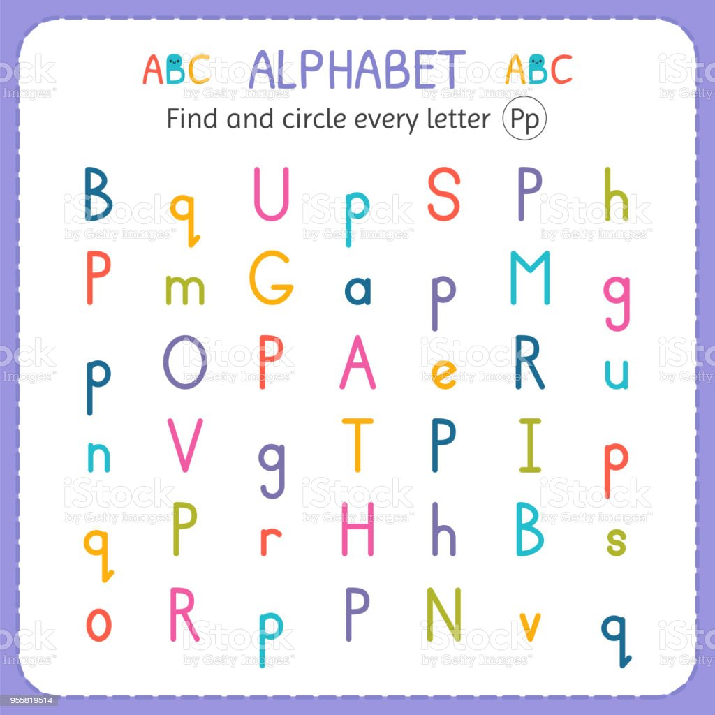 Letter P Worksheets For Kindergarten