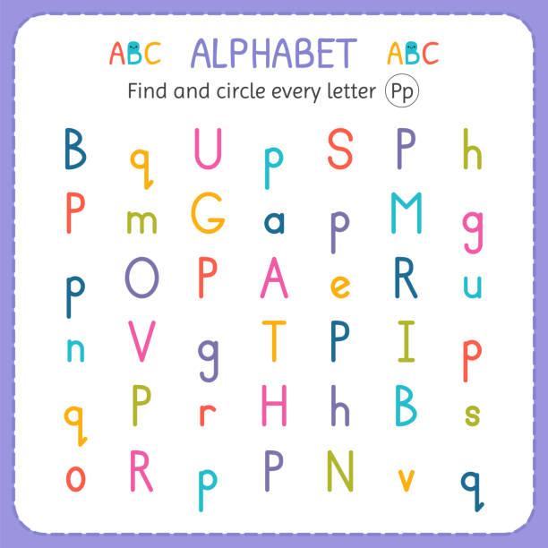 Royalty Free Letter P Worksheet Clip Art Vector Images