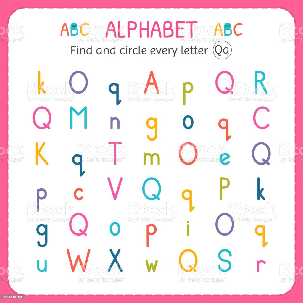 Find And Circle Every Letter Q Worksheet For Kindergarten And ...