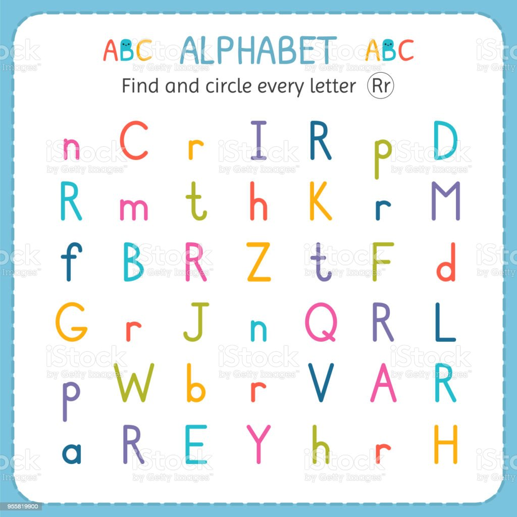 Find And Circle Every Letter R Worksheet For Kindergarten And