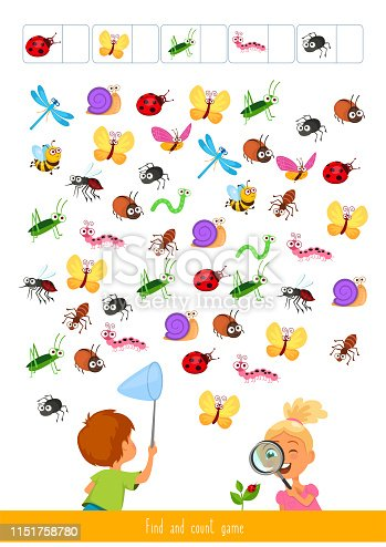 istock Find and count game 1151758780