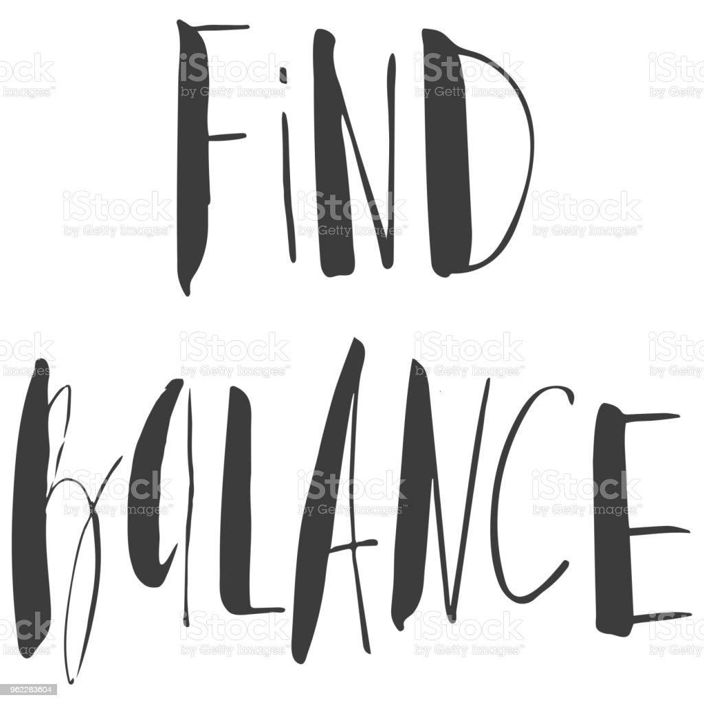 Ilustración De Encontrar Equilibrio Yoga Inscripción Cita
