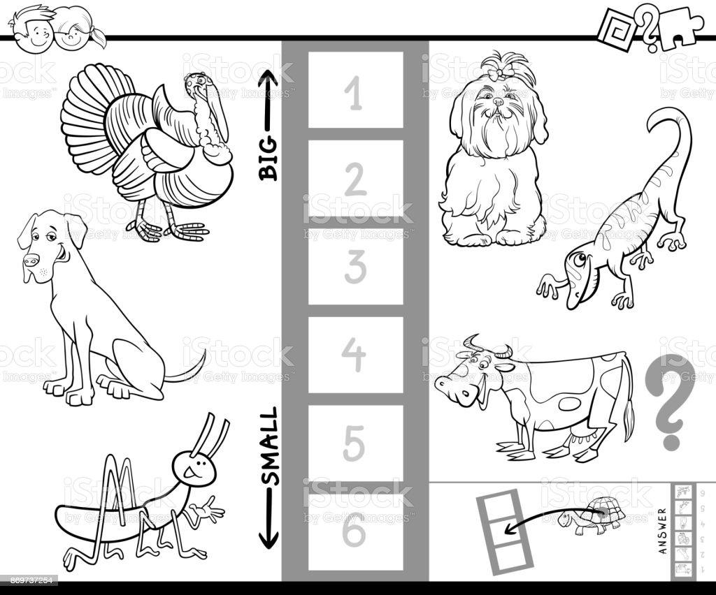 Größte Tier Farbe Buch Aktivität Zu Finden Stock Vektor Art und mehr ...