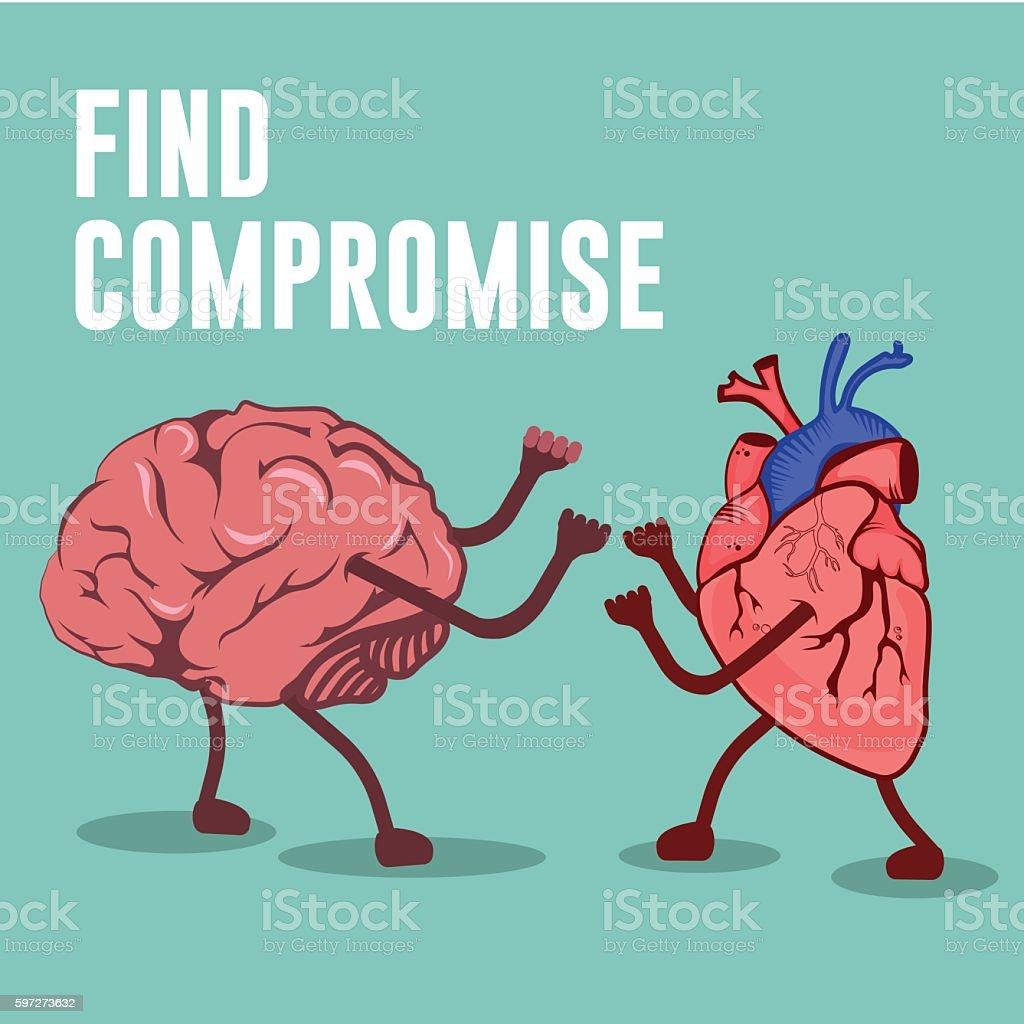 Find compromises illustration Lizenzfreies find compromises illustration stock vektor art und mehr bilder von betrachtung