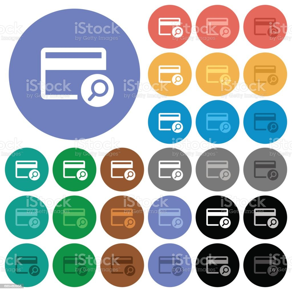 Find credit card round flat multi colored icons find credit card round flat multi colored icons - arte vetorial de stock e mais imagens de amarelo royalty-free