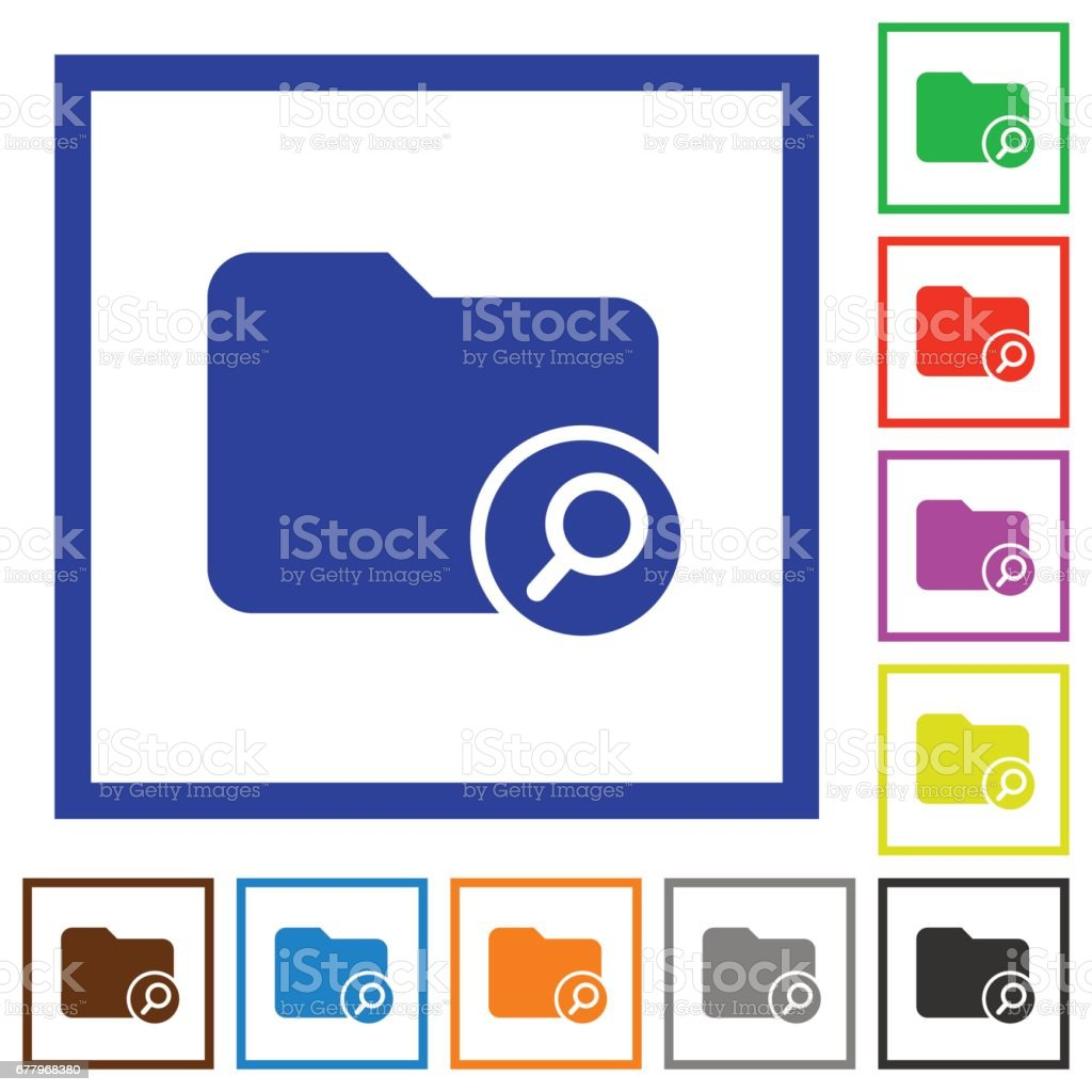 Find directory flat framed icons royalty-free find directory flat framed icons stock vector art & more images of applying