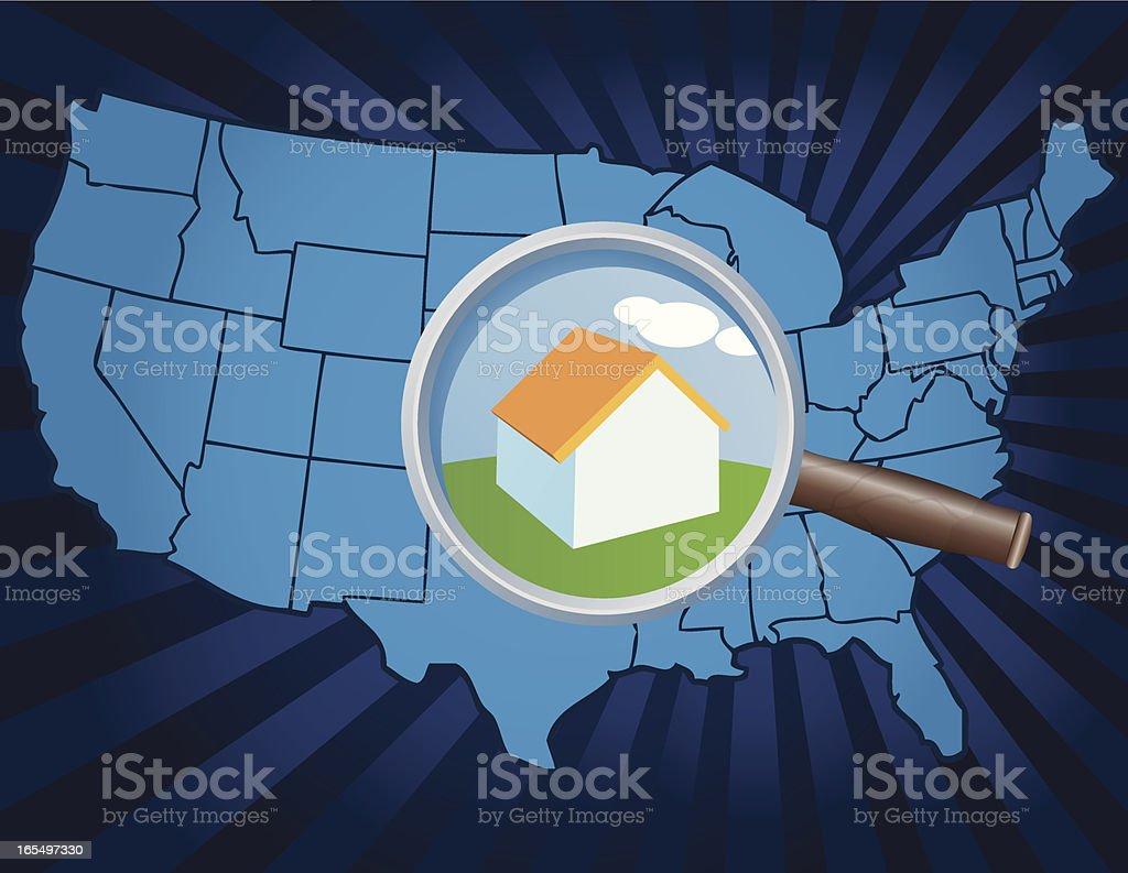 Find Home vector art illustration