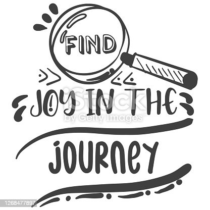 istock find joy in the journey text design 1268477897