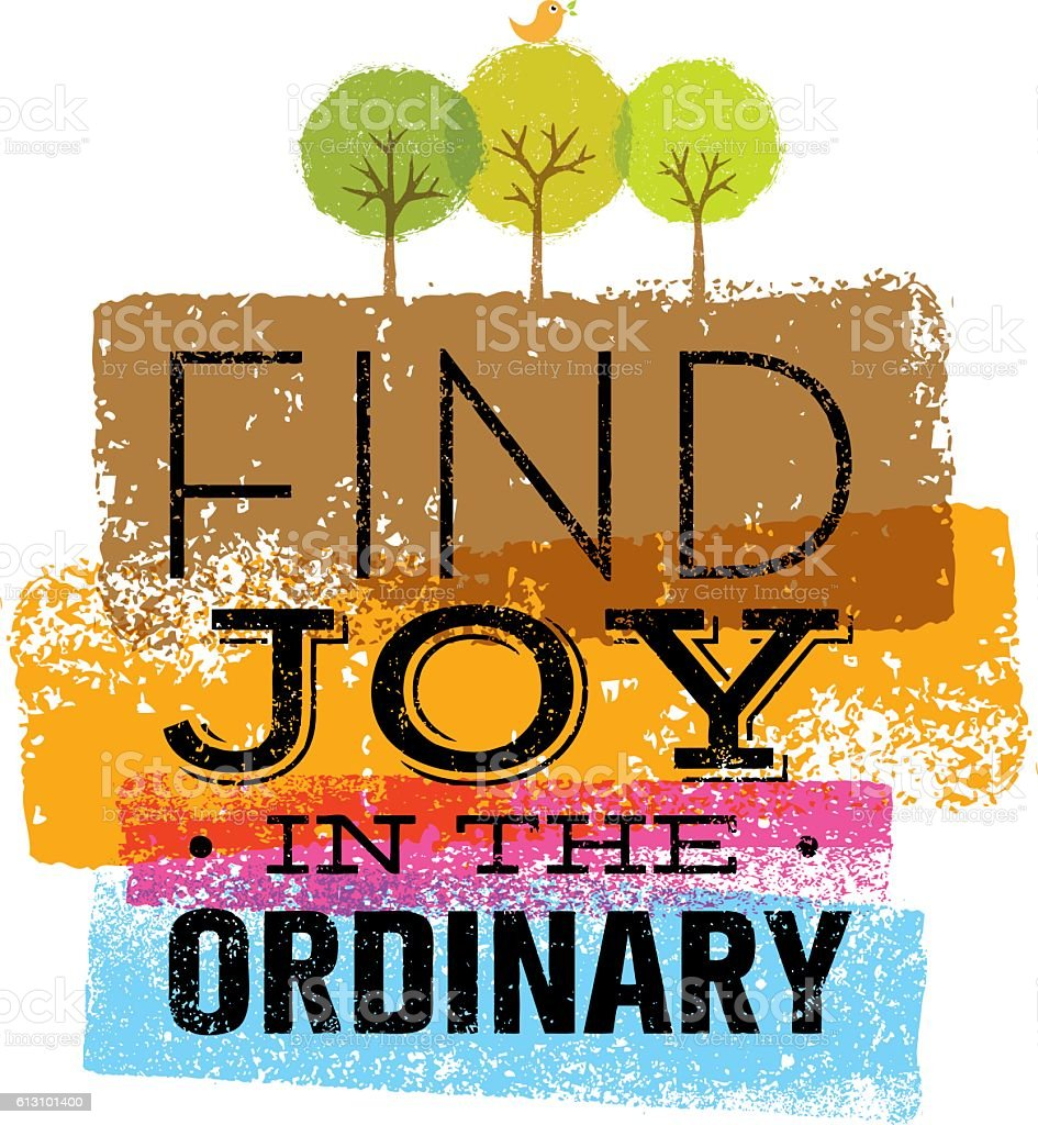Find Joy In The Ordinary Motivation Quote vector art illustration