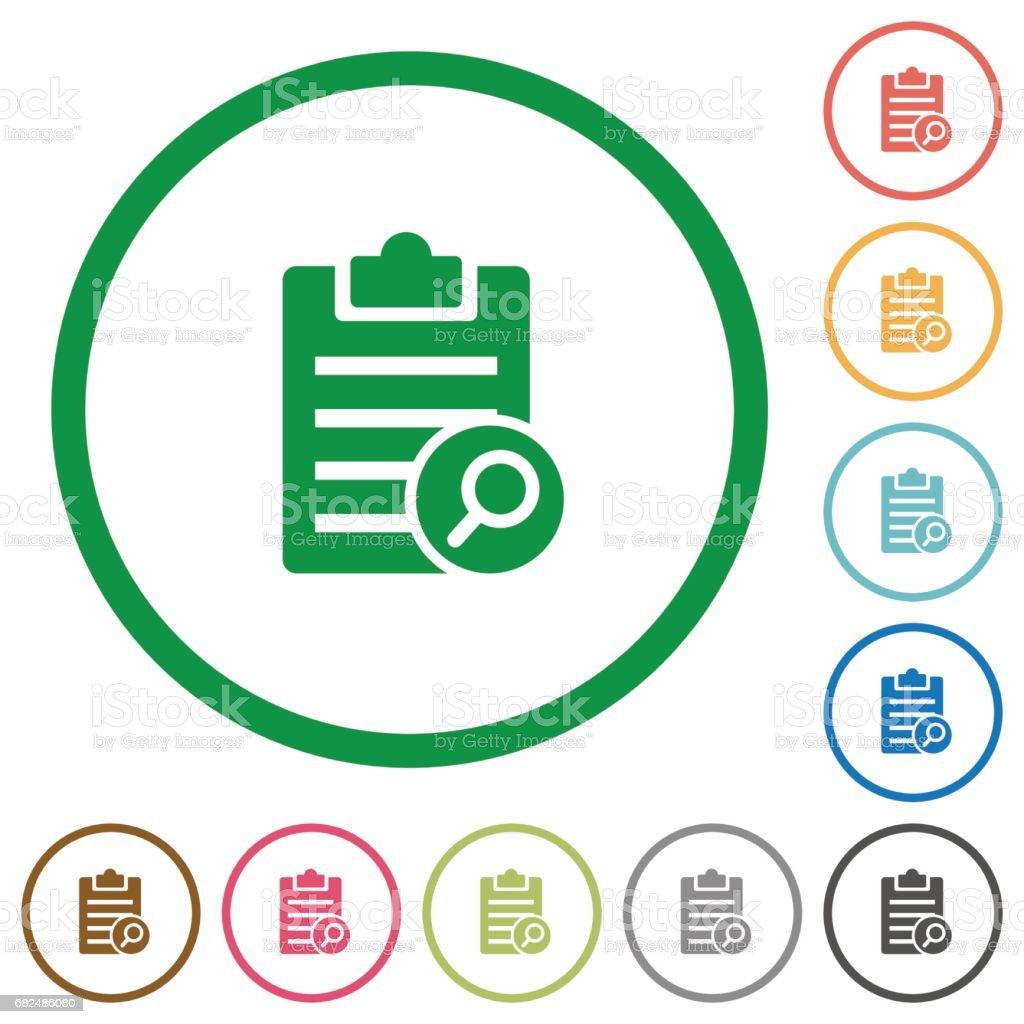 Find note flat icons with outlines ilustración de find note flat icons with outlines y más banco de imágenes de amarillo - color libre de derechos